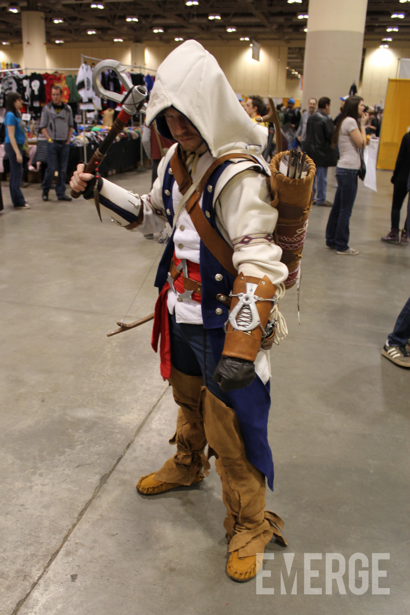 Connor from Assassins Creed 3 with one of the most impressive costumes of the show