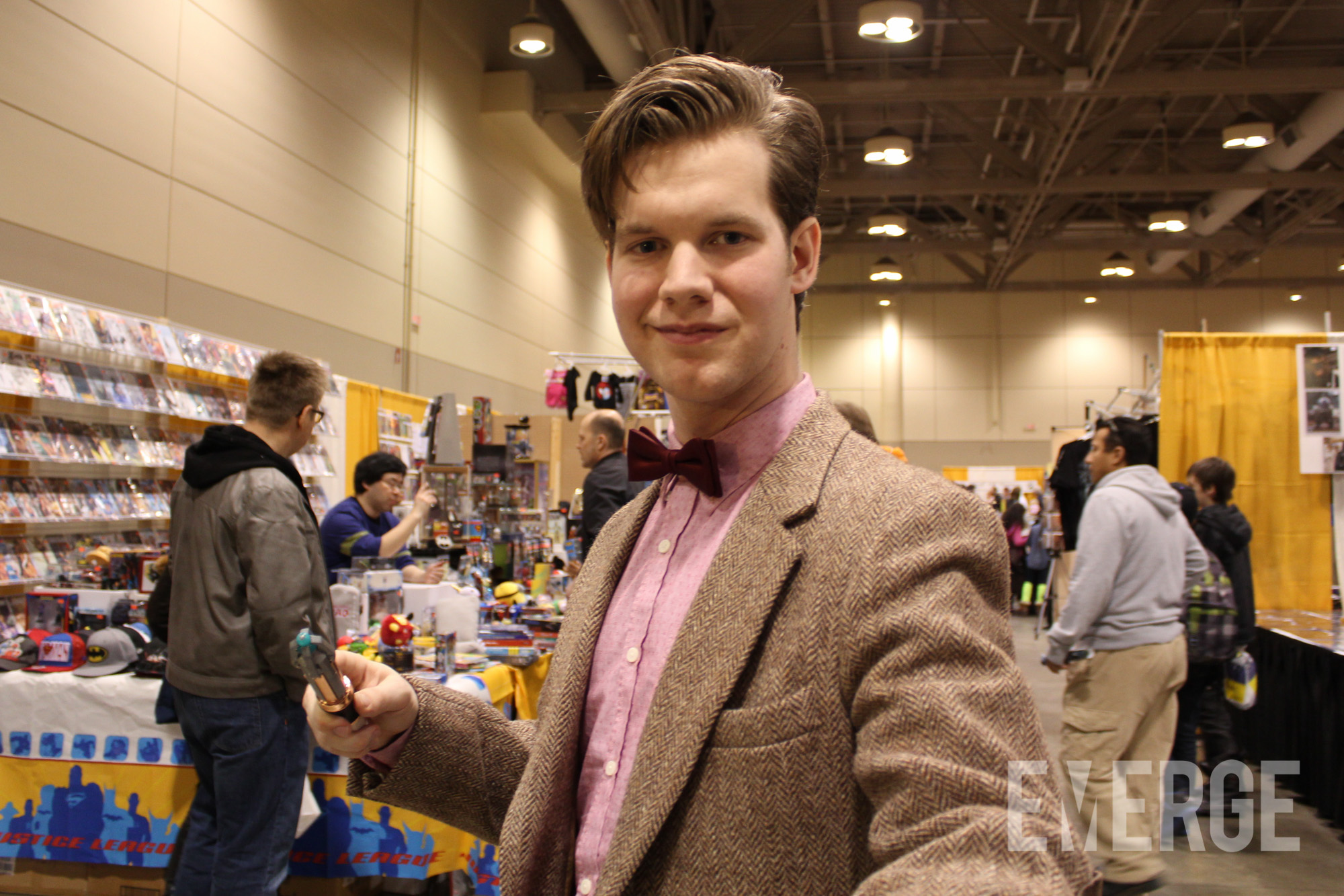 A dapper representation of Matt Smith's 11th Doctor (or is it 12th? 13th?) from Doctor Who.