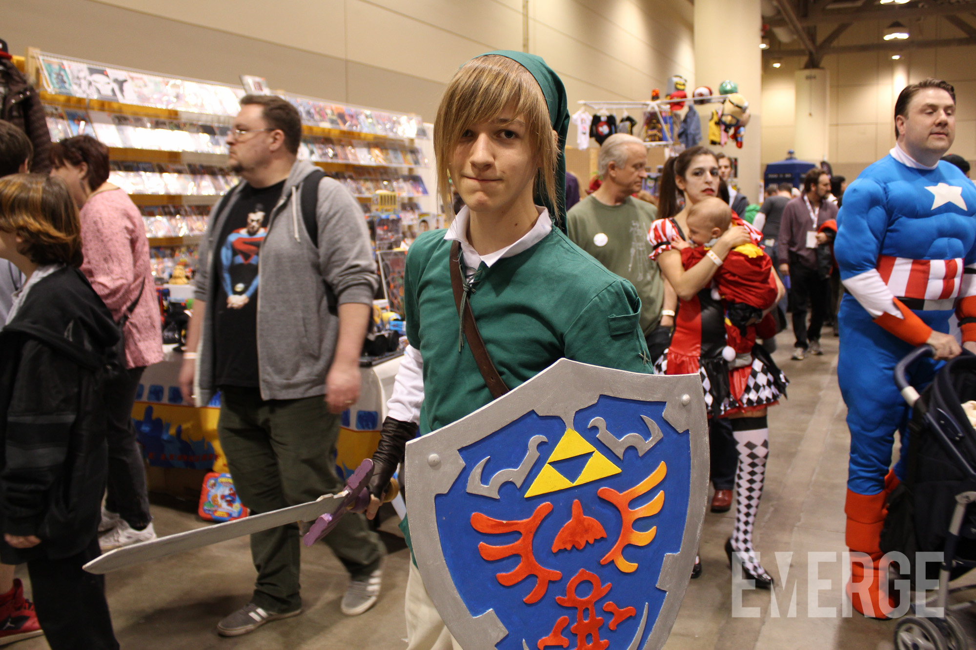 If you call him Zelda, you will face his wrath. It's Link!
