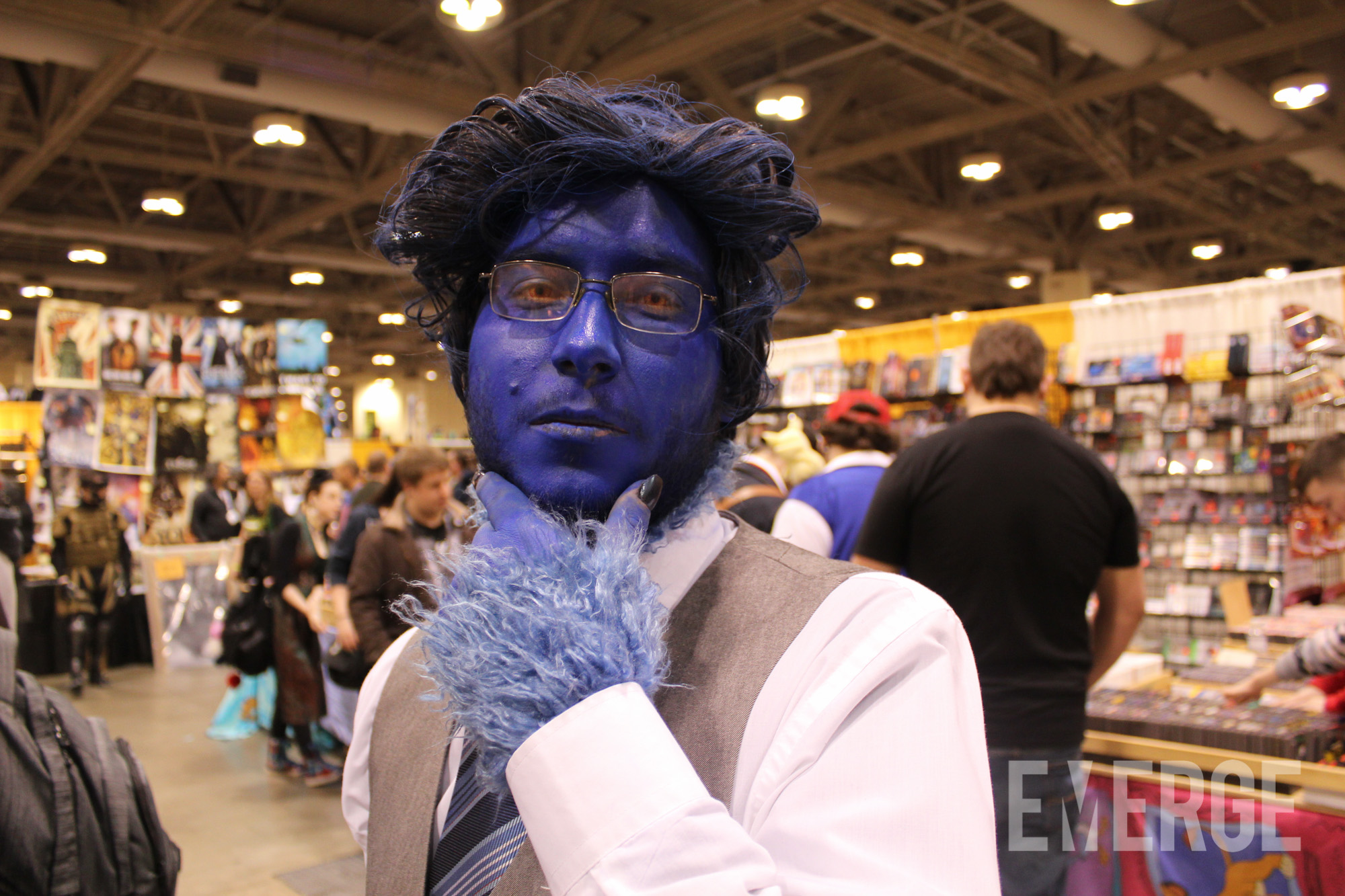 Kelsey Grammar or not, this Beast cosplay from X-men was authentic