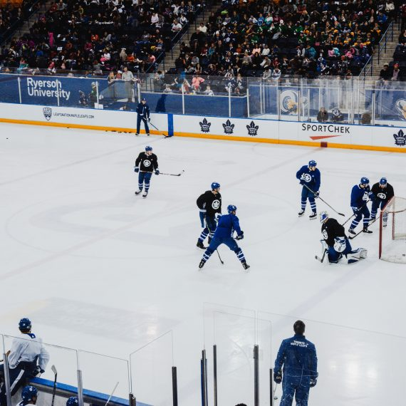 Toronto Maple Leafs on ice