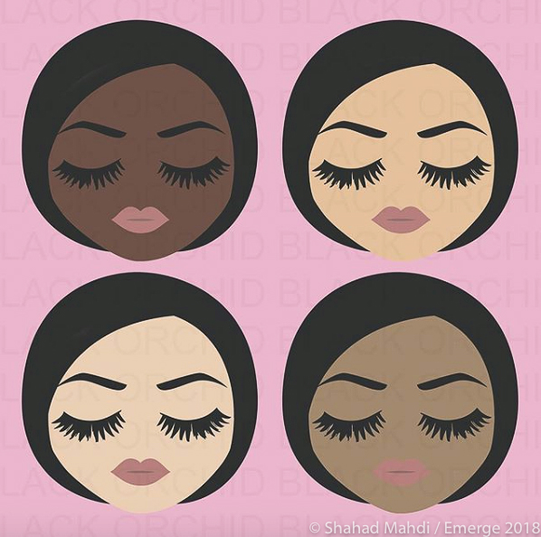 animation of four faces of different ethnicity
